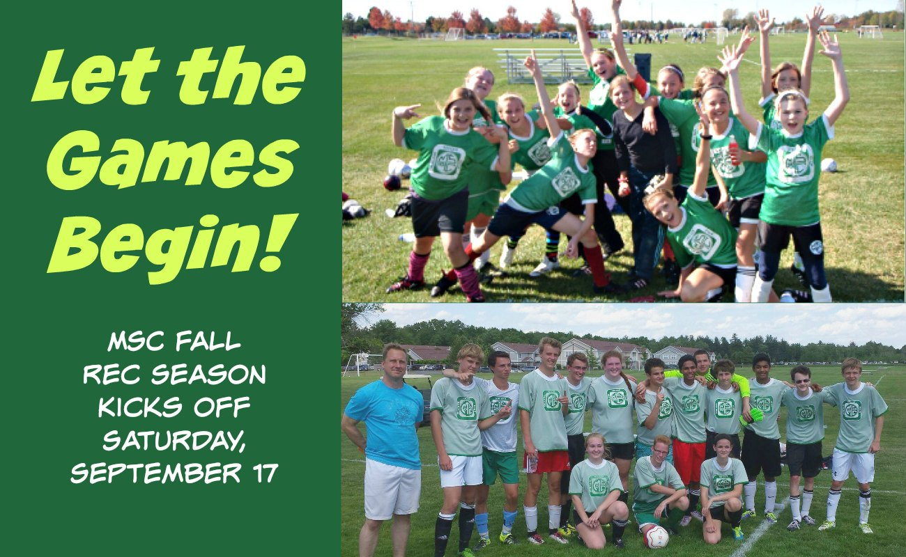MSC Fall Recreation Soccer kicks off September 17th.
